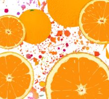 Orange pattern Sticker