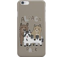 Alpaca Pack iPhone Case/Skin