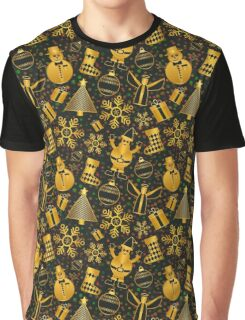 Festive Christmas Pattern Graphic T-Shirt
