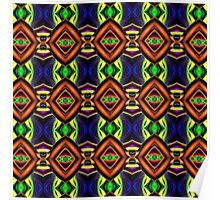 Abstract 3D Pattern Poster