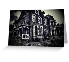 Creepy Scary Haunted House Greeting Card