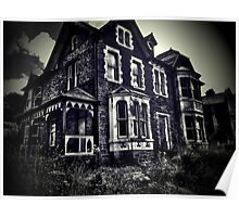 Creepy Scary Haunted House Poster