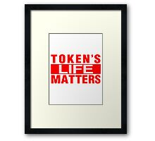 New Red Tokens Life Matters Framed Print