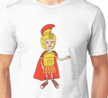 Cute Image Roman gladiator in armor, helmet Unisex T-Shirt