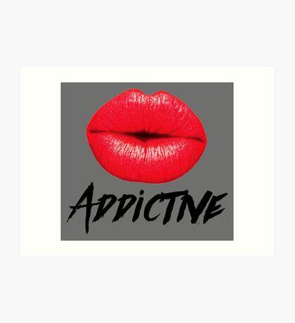 Red Lips Lipstick Addictive  Art Print