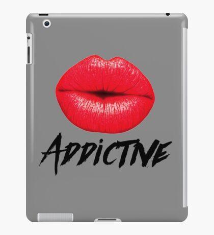 Red Lips Lipstick Addictive  iPad Case/Skin