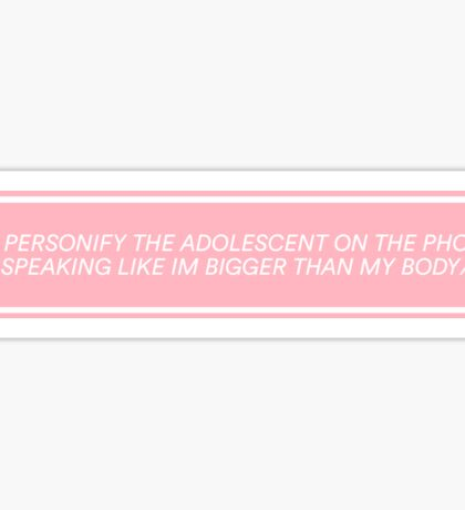 This Must Be My Dream / / The 1975 Lyrics Sticker