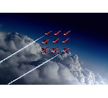 Red Arrows Diamond 9  Photographic Print