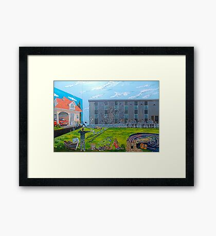 Act against the contemporary ideal of possession Framed Print