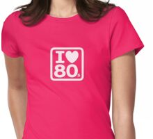 I Love The Eighties - I Heart 80s Party - T-Shirt Womens Fitted T-Shirt