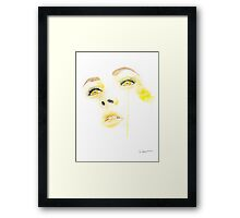 Girl With The Golden Eyes Portrait Watercolour Illustration Framed Print
