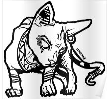 Blingin Sphynx Cat #RBPetMonsters Poster