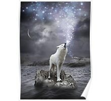 Stars Lie Hidden In Your Soul (Wolf Howl Galaxy) Poster