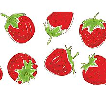 strawberries on white background Photographic Print