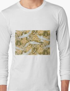 Vintage Art Deco Doves and Flowers Long Sleeve T-Shirt
