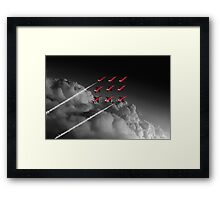 Red Arrows Diamond 9 - Pop Framed Print