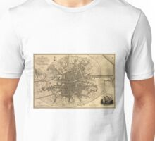 Vintage Map of Dublin Ireland (1797)  Unisex T-Shirt
