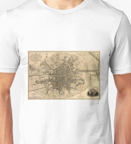Vintage Map of Dublin Ireland (1797)  Unisex T-Shirt