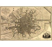 Vintage Map of Dublin Ireland (1797)  Photographic Print