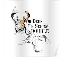 Double Deer Poster
