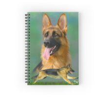 German Shepherd Breed Art Spiral Notebook