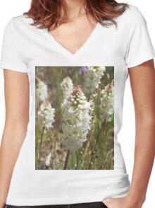 spring wild flowers Women's Fitted V-Neck T-Shirt