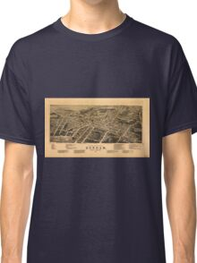Vintage Pictorial Map of Durham NC (1891) Classic T-Shirt