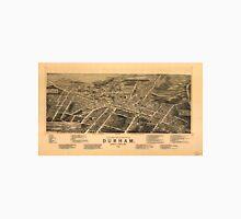 Vintage Pictorial Map of Durham NC (1891) Unisex T-Shirt