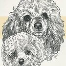 Poodle Father & Son (toy) by BarbBarcikKeith