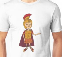 Cute gladiator in armor and helmet Unisex T-Shirt