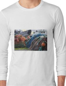 Dutch Harbor Fishing Nets and Boats Long Sleeve T-Shirt