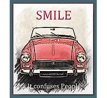 MG Smile Photographic Print