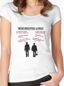 Supernatural Winchester Logic Women's Fitted Scoop T-Shirt