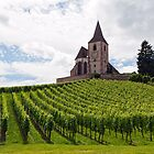 Saint-Jacques-le-Majeur Church and Vineyards by Yair Karelic
