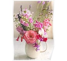 Flowers from the garden Poster