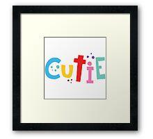 cutie patooti! Framed Print