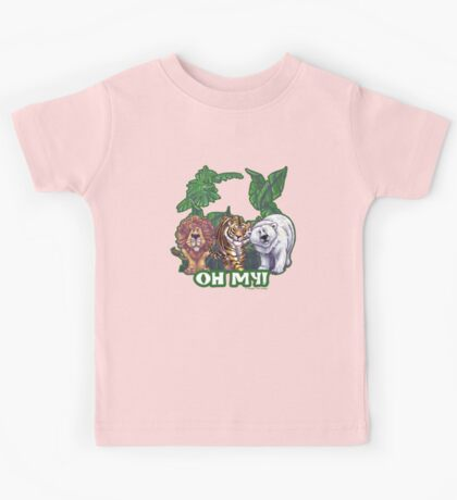 Lions Tiger and Bear Oh My Kids Tee