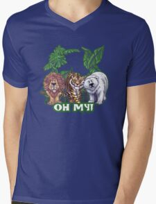 Lions Tiger and Bear Oh My Mens V-Neck T-Shirt