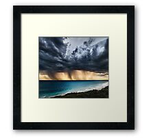 Stormy sunsets at Jindalee Beach Framed Print