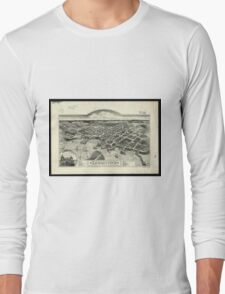 Vintage Pictorial Map of Edgartown MA (1886) Long Sleeve T-Shirt