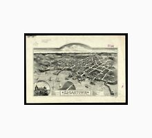 Vintage Pictorial Map of Edgartown MA (1886) Unisex T-Shirt