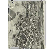Vintage Pictorial Map of Edgartown MA (1886) iPad Case/Skin