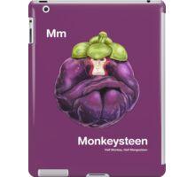 Mm - Monkeysteen // Half Monkey, Half Mangosteen iPad Case/Skin
