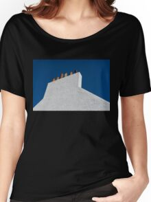 Simplicity - White Stucco Wall and Chimneys Women's Relaxed Fit T-Shirt