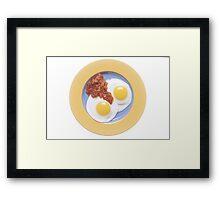 Eggs and Salsa  Framed Print