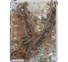 old rusty chain iPad Case/Skin