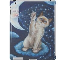Whimsical Cat Art - Playing with the Moon iPad Case/Skin