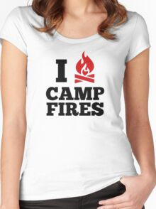 I Love Campfires Women's Fitted Scoop T-Shirt
