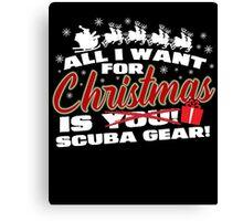 Scuba Gear For Christmas Canvas Print