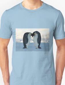 Emperor Penguin Courtship Unisex T-Shirt
